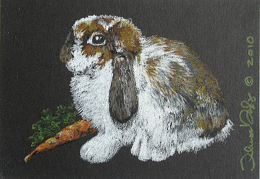 Lop Ear - Mini Art by Theresa Higby