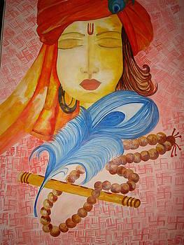 Lord Krishna in Meditation by Seema Sharma