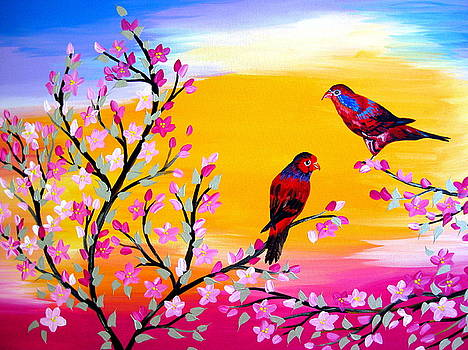 Lorikeets by Cathy Jacobs