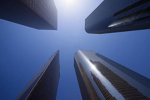 Paul Velgos - Los Angeles Skyscrapers Upward View