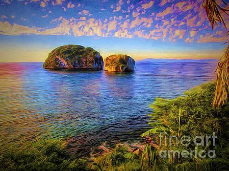 Los Arcos Near Sunset  ... by Chuck Caramella