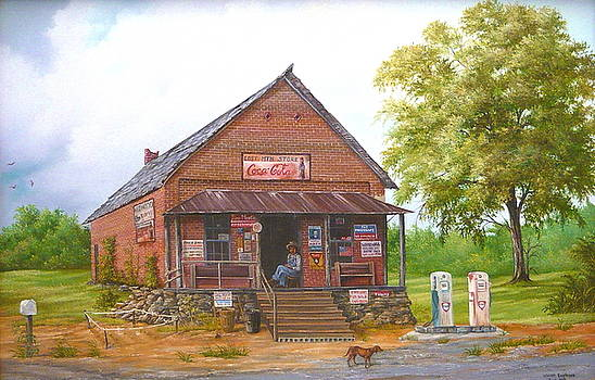 Lost Mountain Store in Georgia by Vivian Eagleson