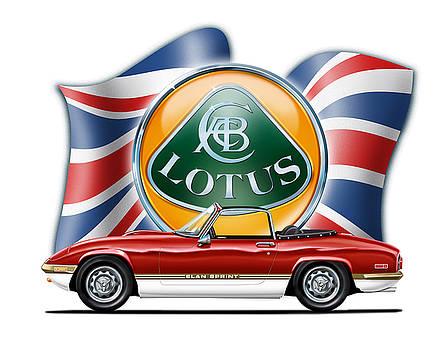 Lotus Elan Sprint Red by David Kyte