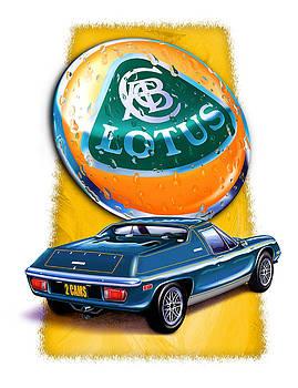 Lotus Europa Blue by David Kyte