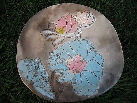Lotus Platter by Julia Van Dine