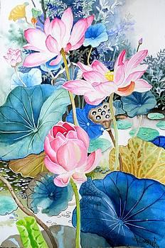 Lotus Pond 3 by Vishwajyoti Mohrhoff