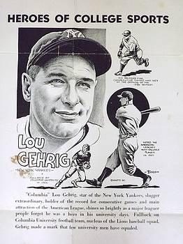 Lou Gehrig by Steve Bishop