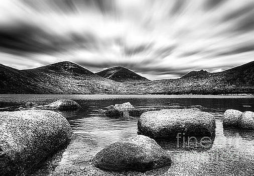 Lough Shannagh Mourne Mountains by Tony Black