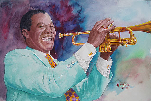 Louis Armstrong by Charles Hetenyi