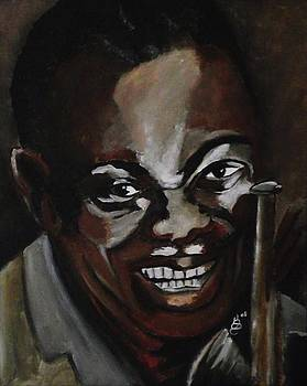 Louis Armstrong by Kim Selig