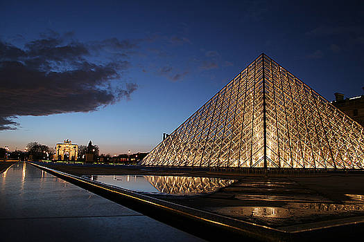 Louvre Puddle Reflection by Joshua Francia