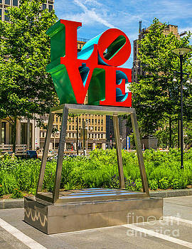 LOVE in Dilworth Park by Nick Zelinsky
