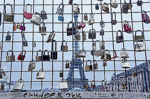 Love Locks and Eiffel by Lilliana Mendez