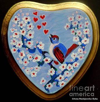 Love Song Folk Heart by Anna Folkartanna Maciejewska-Dyba
