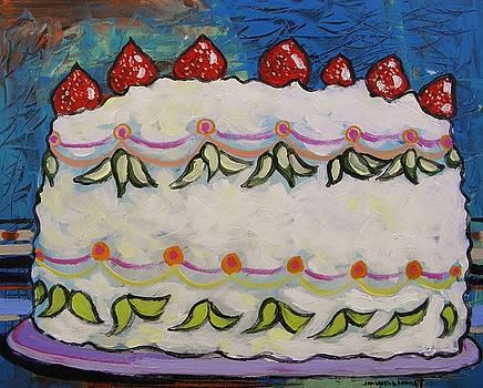 Lovely Strawberry Cake by John Williams