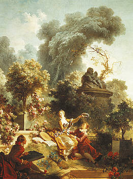 Jean-Honore Fragonard  - Lover crowned with flowers