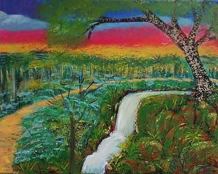 Loving waterfall by Deyanira Harris