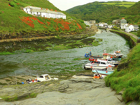 Low Tide At Boscastle by Connie Handscomb