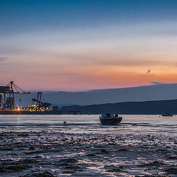 Low Tide At Fairlie by Tylie Duff