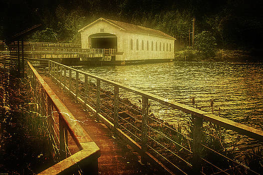 Lowell Covered Bridge - 1945 by Mick Anderson