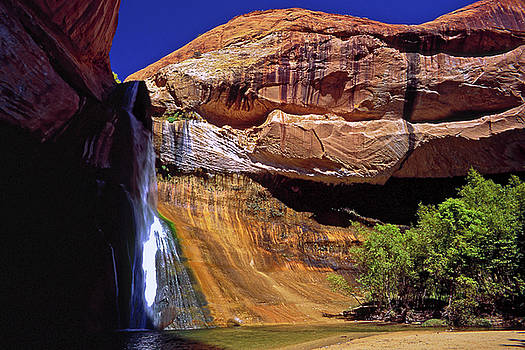 Lower Calf Creek Falls II by Sally Weigand
