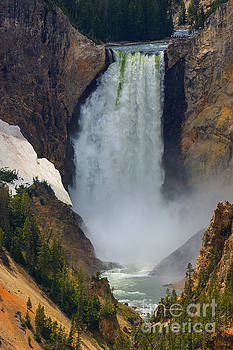 Lower Falls on the Yellowstone river by Henk Meijer Photography