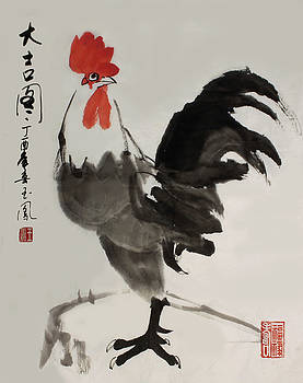 Lucky Rooster by Yufeng Wang