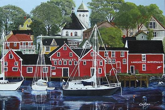 Lunenburg Harbour Front by Connie Rowsell