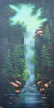 Lush Waterfall by Debra Campbell