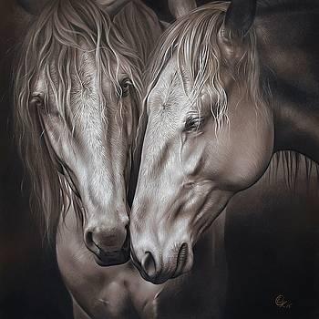 Lusitano pair by Elena Kolotusha