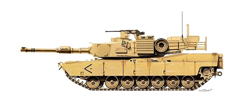 M1 A1 Abrams by C S Bailey
