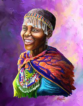 Maasai Girl by Anthony Mwangi