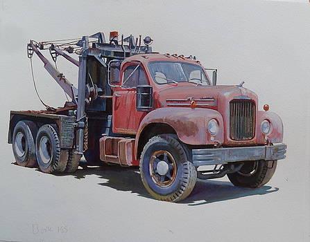 Mack wrecker. by Mike  Jeffries