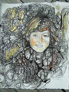 Magic eye portrait by Anne-D Mejaki - Art About You productions