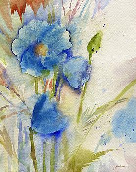 Magical Blue Poppy by Sheila Golden