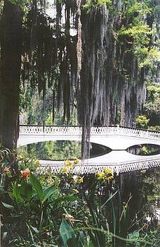 Magnolia Gardens Bridge-vertical by Kelly Luquer