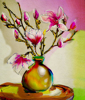 Magnolia in Pink by Linde Townsend