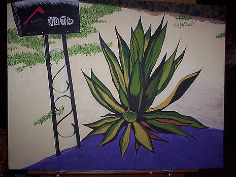 Mailbox and Yucca Plant by Otis L Stanley
