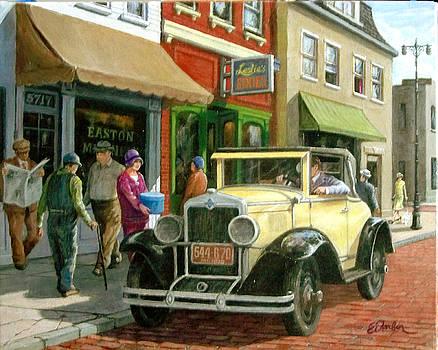 Main Street 1929 by Edward Farber