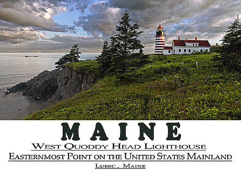 Maine West Quoddy Head Lighthouse Version 2 by Marty Saccone
