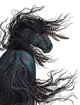 Majestic Horse Friesian 135 by AmyLyn Bihrle