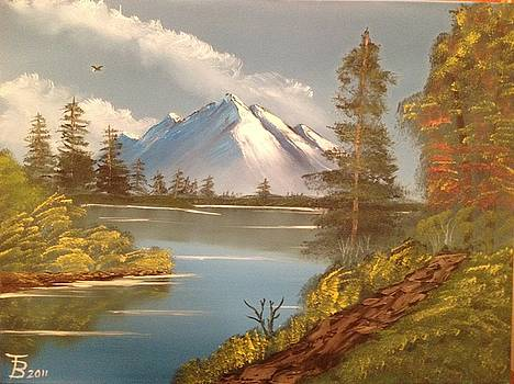 Majestic Mountain Lake by Tim Blankenship
