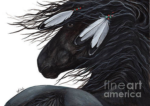 Majestic White Feathers Horse 145 by AmyLyn Bihrle