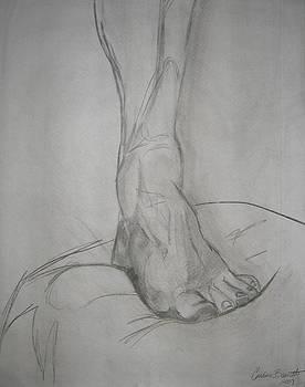 Male Foot Study by Candace Barnett