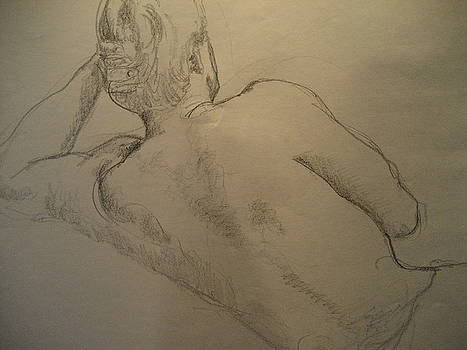Male nude 1 by Victoria Heryet