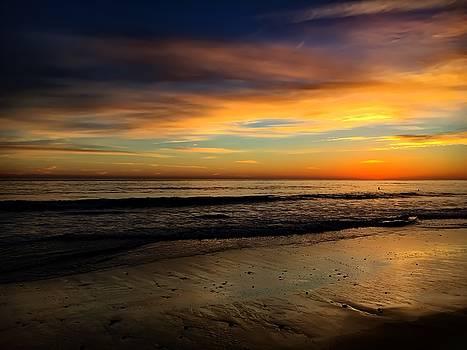 Malibu Beach Sunset by Chris Tarpening