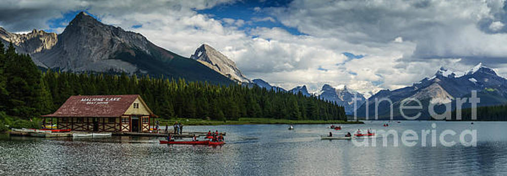 Maligne Lake Afternoon by Carrie Cole