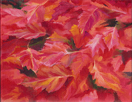 Mallow Fall Leaves by Pam Little