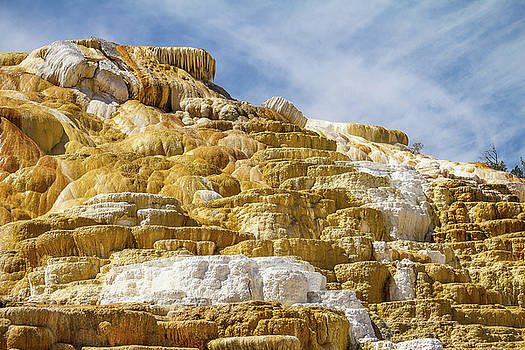 Mammoth Hot Springs Colors by Steven Bateson