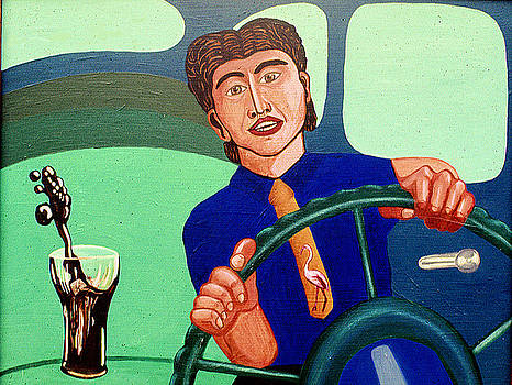 Man Driving with Coke by Paul Knotter